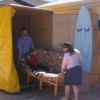 Gina and I acting in the Storage Commercial